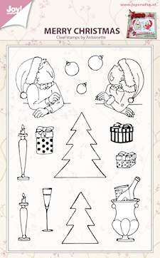 Joy! crafts - Clearstamp - Merry Christmas - 6410/0433