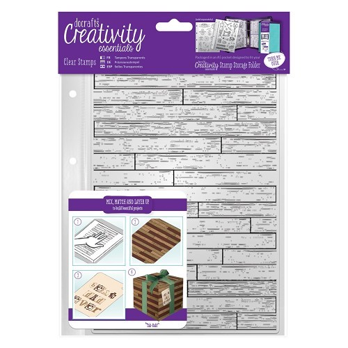 Docrafts - Creativity Essentials - Clearstamp - Wooden Boards Backgroud - DCE907132
