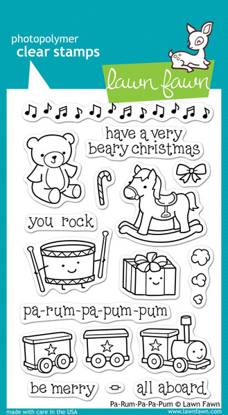 Lawn Fawn - Clearstamps - Pa-Rum-Pa-Pum-Pum - LF360