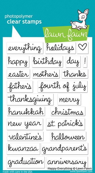 Lawn Fawn - Clearstamps - Happy Everything - LF430
