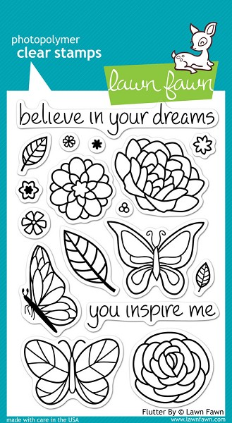 Lawn Fawn - Clearstamps - Flutter By