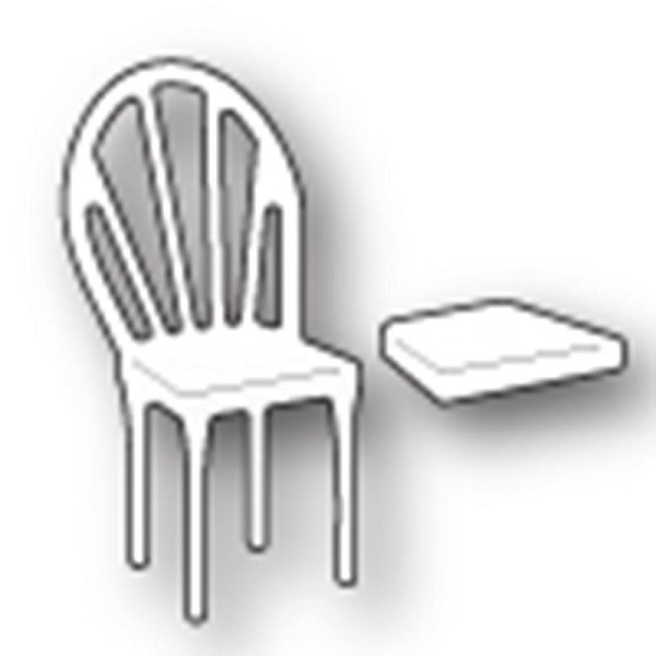 Memory box - Poppystamp - Die - Left Bistro Chair - 1500