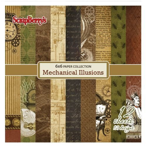 ScrapBerry`s - Paperpack - Mechanical Illusions - SCB220603210b