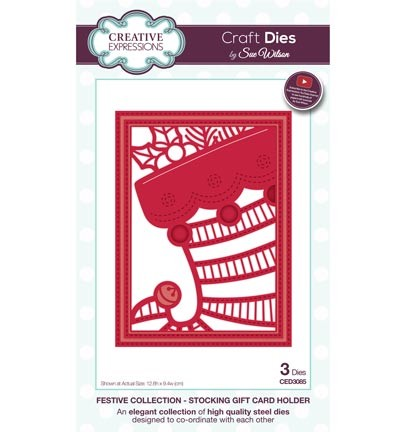 Creative Expressions - Die - The Festive Collection - Stocking Gift Card Holder