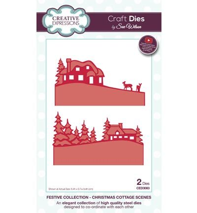 Creative Expressions - Die - The Festive Collection - Christmas Cottage Scenes