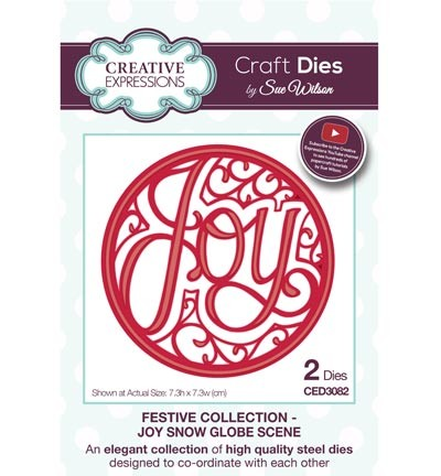 Creative Expressions - Die - The Festive Collection - 	Joy Snow Globe Scene