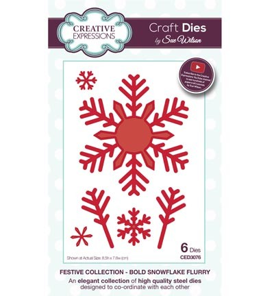 Creative Expressions - Die - The Festive Collection - Bold Snowflake Flurry