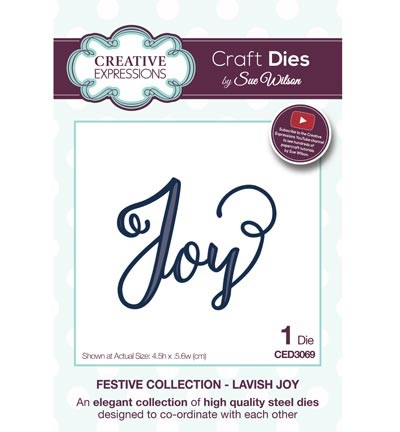 Creative Expressions - Die - The Festive Collection - Lavish Joy