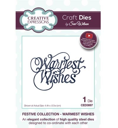 Creative Expressions - Die - The Festive Collection - Warmest Wishes - CED3067