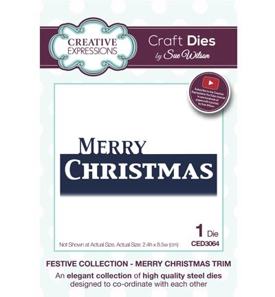 Creative Expressions - Die - The Festive Collection - Merry Christmas Trim