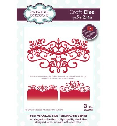Creative Expressions - Die - The Festive Collection - Snowflake Gemini