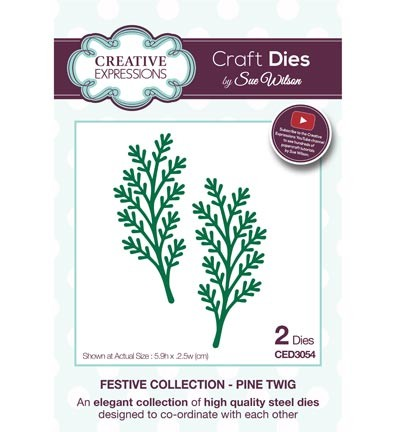 Creative Expressions - Die - The Festive Collection - Pine Twig