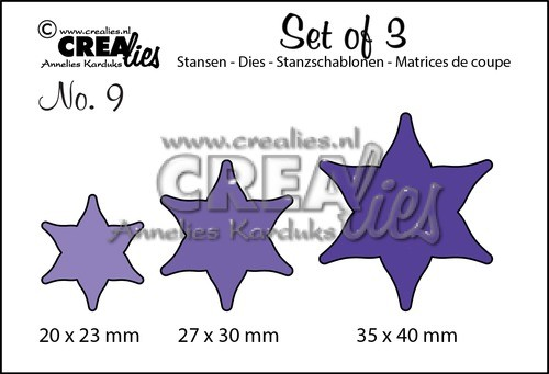 Crealies - Die - Set of 3 - Flowers - No. 09