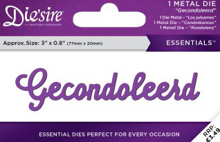 Die`Sire - Die - Essentials - Only Words - Gecondoleerd - DS-E-W-71-NL