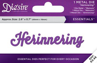 Die`Sire - Die - Essentials - Only Words - Herinnering - DS-E-W-60-NL