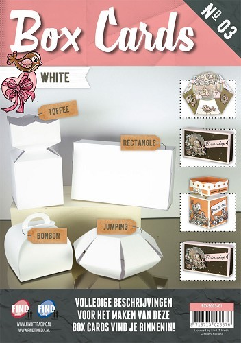 Card Deco - Box Cards 3: Wit - BXCS003-01