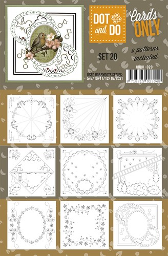 Card Deco - Oplegkaarten - Dot & Do - Cards Only - Set 20 - CODO020
