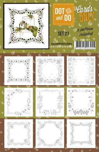 Card Deco - Oplegkaarten - Dot & Do - Cards Only - Set 21 - CODO021