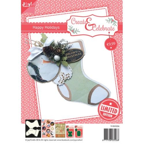 Joy! crafts - Kaartenpakket - Create & Celebrate - Happy Holidays - 9100/0206