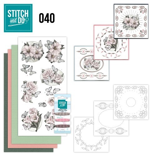 Card Deco - Kaartenpakket - Stitch & Do No. 40 - Condoleance - STDO040