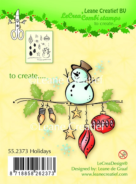 Leane Creatief - Clearstamp - Holidays - 55.2373