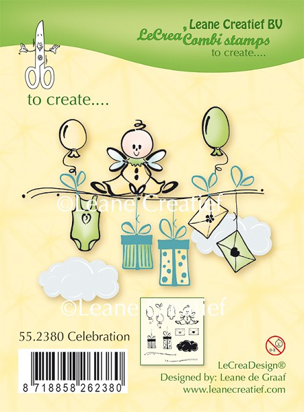 Leane Creatief - Clearstamp - Celebration - 55.2380