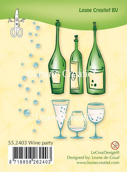 Leane Creatief - Clearstamp - Wine Party - 55.2403
