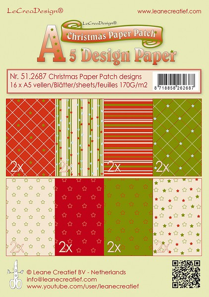 Leane Creatief - Paperpack - Christmas Paper Patch - 51.2687