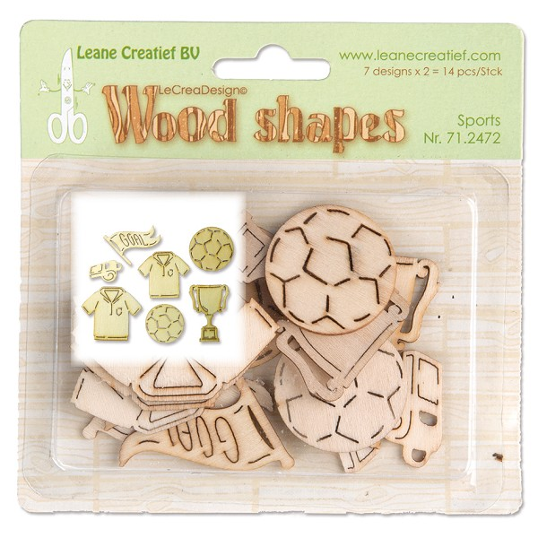 Leane Creatief - Wooden Ornaments - Sports - 71.2472