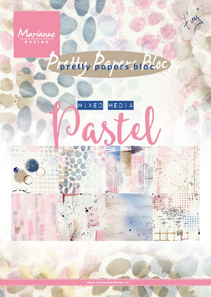 Marianne Design - Paperpack - Pretty Papers - Tiny Mixed Media: Pastels - PK9141