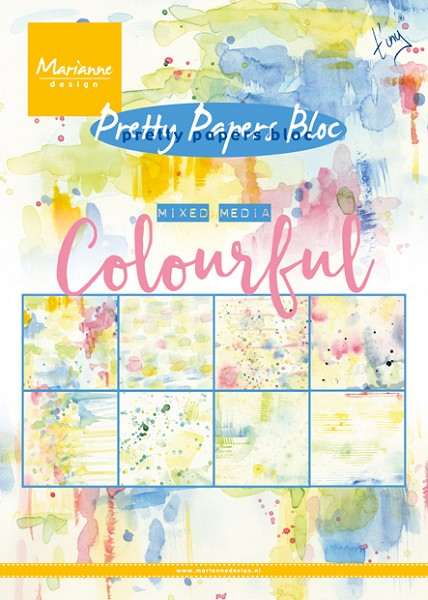 Marianne Design - Paperpack - Pretty Papers - Tiny Mixed Media: Colourful - PK9140