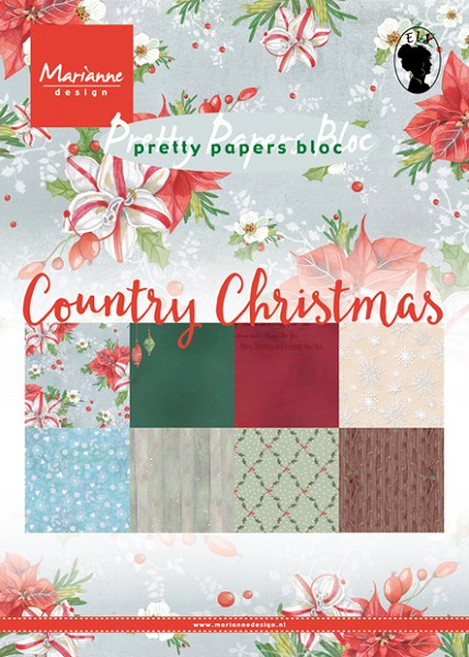 Marianne Design - Paperpack - Pretty Papers - Country Christmas - PK9139