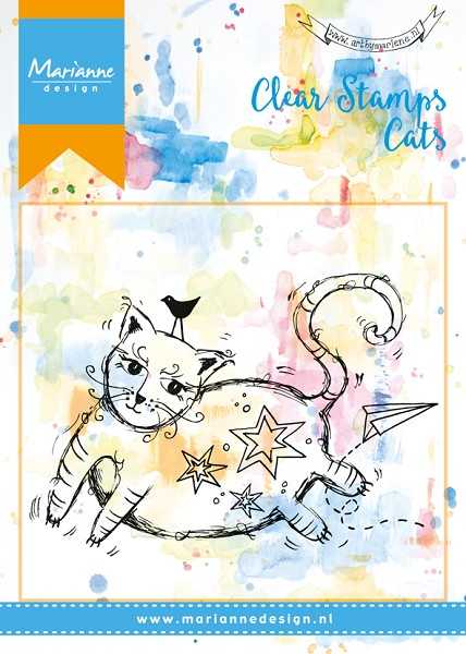 Marianne Design - Clearstamp - Background - Fat cat - MM1611