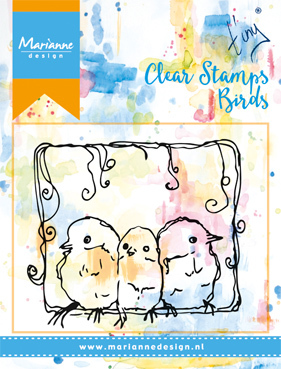 Marianne Design - Tiny`s - Texturestamp - Background - 3 Birds - MM1609