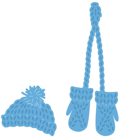 Marianne Design - Die - CreaTables - Knitted hat and mittens - LR0440