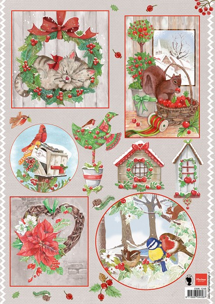 Marianne Design - Els Wezenbeek - 3D-knipvel A4 - Country Christmas 2