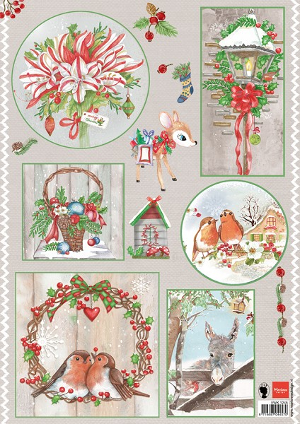 Marianne Design - Els Wezenbeek - 3D-knipvel A4 - Country Christmas 1