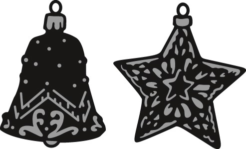 Marianne Design - Die - Craftables - Tiny`s ornaments star & bell - CR1382