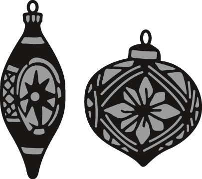 Marianne Design - Die - Craftables - Tiny`s ornaments baubles - CR1379