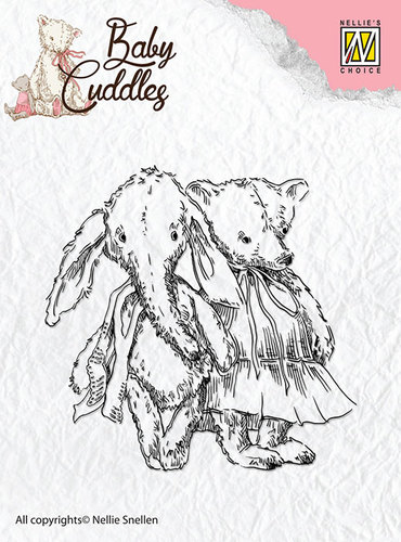 Nellie Snellen - Clearstamp - Baby Cuddles - Cuddly friends - CSBC005