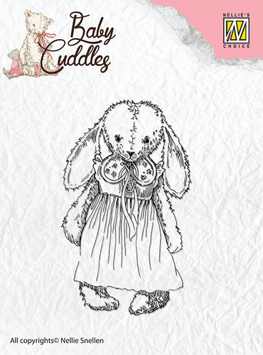 Nellie Snellen - Clearstamp - Baby Cuddles - Cuddly girl - CSBC002