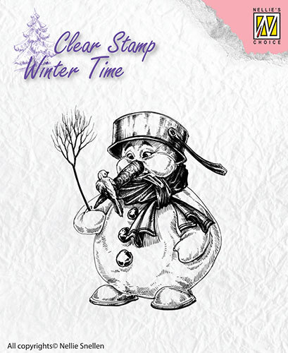 Nellie Snellen - Clearstamp - Winter Time - Snowman  - WT001