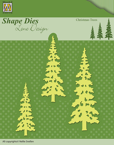 Nellie Snellen - Shape Die - Lene Design - Christmas trees