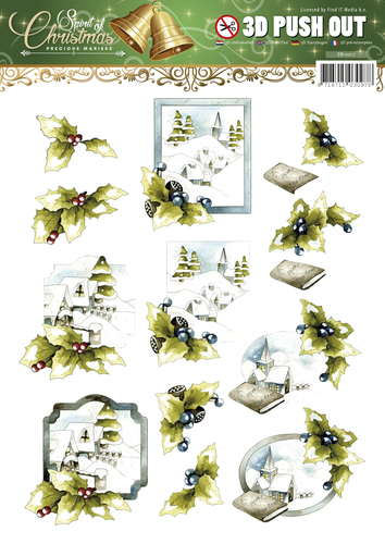 Card Deco - (3D-)stansvel - Precious Marieke - Spirit of Christmas -