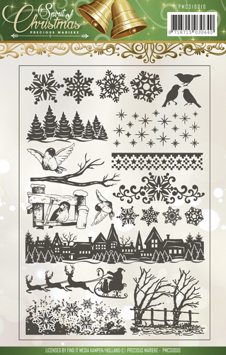 Precious Marieke - Clearstamp - Spirit of Christmas - PMCS10012