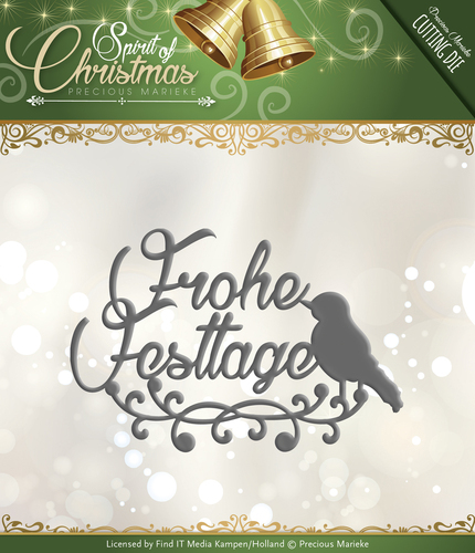 Card Deco - Precious Marieke - Die - Spirit of Christmas - Frohe Festtage