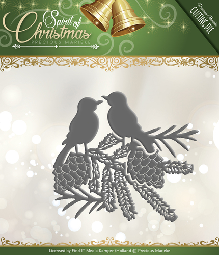 Card Deco - Precious Marieke - Die - Spirit of Christmas - Spirited Birds