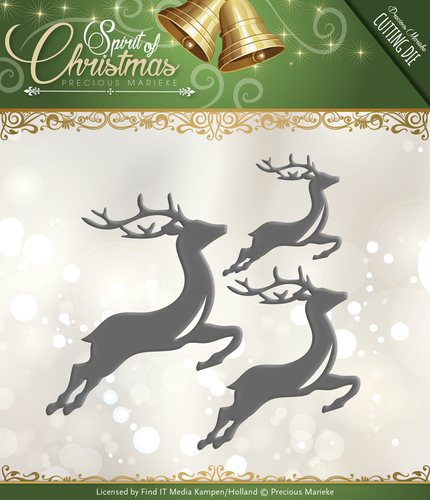 Card Deco - Precious Marieke - Die - Spirit of Christmas - Spirited Reindeer