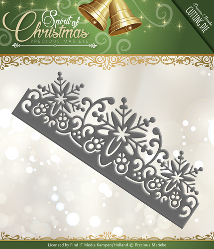 Card Deco - Precious Marieke - Die - Spirit of Christmas - Snowflake Border