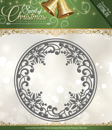 Card Deco - Precious Marieke - Die - Spirit of Christmas - Snowflake Circle